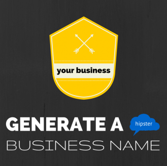 hipster business name generator image