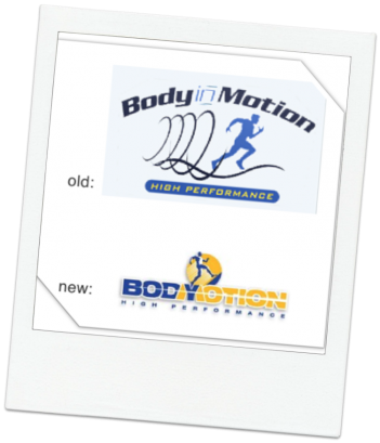 body in motion logo chicago graphic design image
