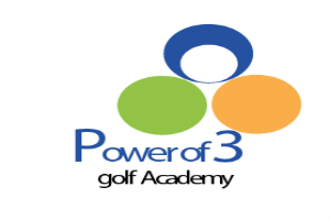 power of 3 golf academy logo design image